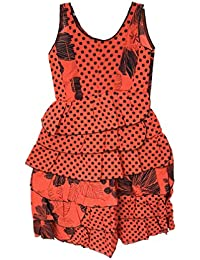 Vestido Bata Rojo Flamenco Disfraz Verano Niña Mujer