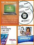Windows 7 Home Premium 32 / 64 Bit Deutsch inkl. Service Pack 1 (SP1) MAR Refurbished + McAfee Internet Security 1 Jahr / 3 User + Corel Painter Essentials Version 4