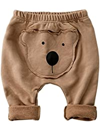 Vine Pantalons Bébé Coton Leggings Pantalon de Sport Joggeur Garçons Filles Harem Pantalon Ours