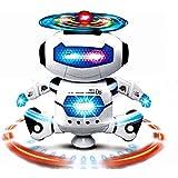 Shreeji Dancing Robot With 3D Lights And Music,(Multi Color)