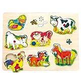 Vocali - Tierstimmen-Puzzle * Geschenk für Kinder * Grösse:29,5 x 2,5 x 22 cm