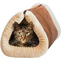 Huihuger - Alfombrilla y Cama para Gatos, Cama Grande para Mascotas, Accesorios de Felpa para Mascotas 2 en 1 con alfombras de núcleo térmico