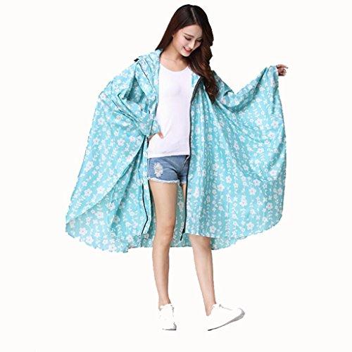 JTQYZM Regenmantel Leichter Mantel Niedlicher japanischer und koreanischer Mode Licht Mantel Regenmantel Wasserdichter Regenmantel für Erwachsene Wasserdichter Regenponcho (Color : B)