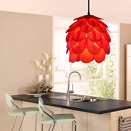 HROOME Europäischen Stil DIY 3D Puzzle Lampenschirm Weihnachten Pinecone  Blume Pendelleuchte Moderne Weiß Kronleuchter Wohnzimmer Schlafzimmer