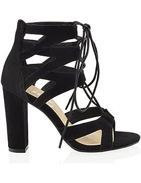 Essex Glam Sandalo Donna Sintetico Cut-out con Lacci