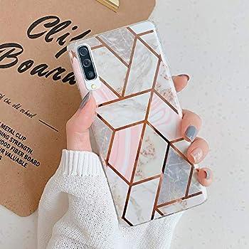 Herbests Kompatibel mit Samsung Galaxy A50 H/ülle Bunt Marmor Muster TPU Silikon Handyh/ülle Gl/änzend Bling Glitzer Diamant Strass Ring Halter St/änder Ultra D/ünn Crystal Schutzh/ülle,Gold Gr/ün