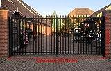 Einfahrtstor schwarz Tor Hoftor Doppeltor Industrietor Gartentor 350cm x 180cm