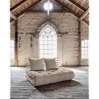 KARUP - SHIN SANO, pratico divano e letto, futon ecru su struttura in legno naturale