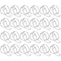 Hotop 24 Piezas de Pinza de Mantel de Plástico, Clips de Paño Cubierta de Mesa Transparente para Fiesta Picnic
