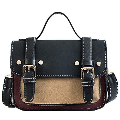 JUND Vintage Handtaschen Herbst Wild Umhänge Messenger Bag Classic Leder Frauentasche Henkeltasche Shopper -