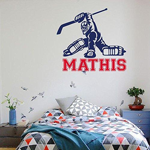 Luziang Eishockey-Spieler Wand Stock geschnitzt PVC Wand Aufkleber Schlafzimmer Dekoration Aufkleber