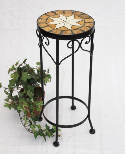 DanDiBo Blumenhocker Mosaik Rund Blumenständer 12011 Beistelltisch Pflanzenständer Mosaiktisch