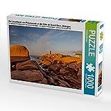 Der Leuchtturm von Ploumanach an der Côte de Granit Rose, Bretagne 1000 Teile Puzzle quer (CALVENDO Natur)