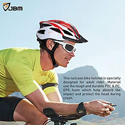 JBM Adult Cycling Bike Helmet Specialized for Men Women Safety Protection CE Certified Adjustable Lightweight Bicycle Helmet with Reflective Stripe and Removal from JBM