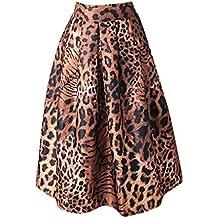 7d9adc5e44 asdkfh Faldas Mujer Falda Plisada Mujer Falda Estampada Leopardo Verano  OtoñO Falda De Tutú Media Cintura