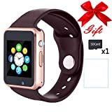 Bluetooth Smartwatch,Smart Watches Unlocked Watch Phone can Call and Text with TouchScreen Camera Notification Sync Compatible for Android Huawei and IOS Phone(App Unavailable) (Gold)