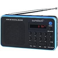 Sunstech RPDS32BL - Radio portátil digital (AM/FM, USB, SD, MMC, 1.5 W), color azul (Reacondicionado Certificado)