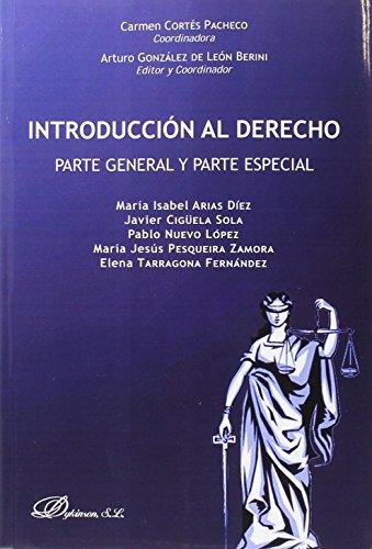 Introducción al derecho : parte general y parte especial