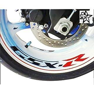 8 Sticker GSXR GSX-R 600 750 1000 Suzuki Motorrad Aufkleber Decal Aufkleber Bike Motorrad Felge Felgen Innenrandaufkleber