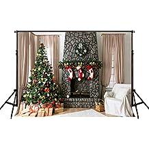 KateHome PHOTOSTUDIOS 2,2 × 1,5 m Fondo de fotografía de Navidad para
