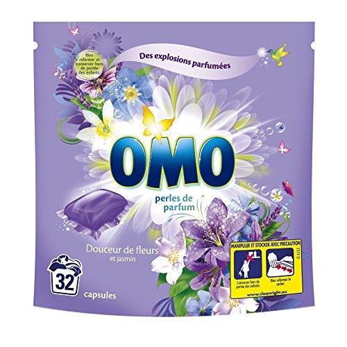 Omo Lessive Capsules Douceur De Fleurs Et Jasmin 32 Dosettes- lot de 2