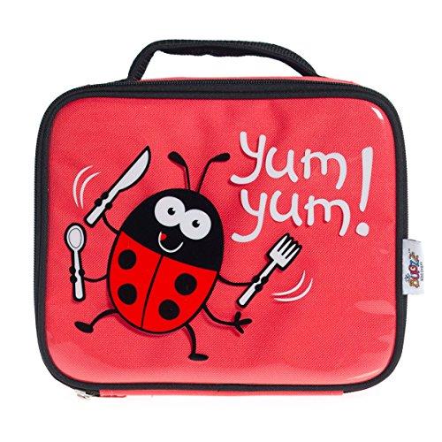 Bugzz-Borsa porta pranzo per bambini Rosso (Coccinella)