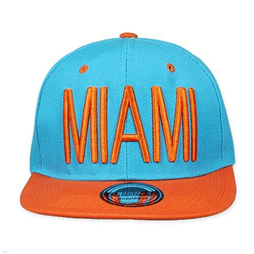 Original Snapback City Caps, Größe:One Size;Farbe:Miami-City-Blue-Orange