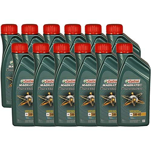 Castrol Magnatec Professional OE 5W40 - Olio per Auto, Lubrificante 5W-40 12 Litri