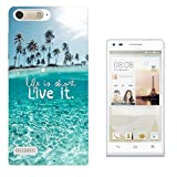003687 - Sea View Palm tree Life Is Short Design Huawei