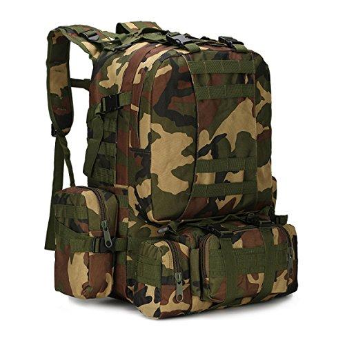 BULAGE Paket Multifunktional Rucksäcke Militärische Fans Taktik Schultern Taille Im Freien Mit Hohen Kapazität Tarnung Wandern Reisen Wandern AB