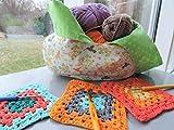Japanische Knotentasche Projekttasche Strickzeugtasche