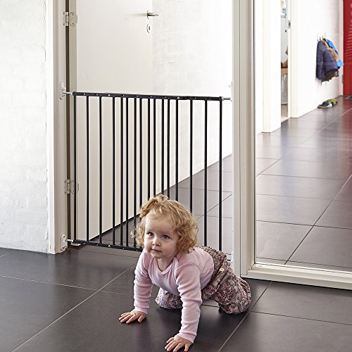 Safetots - Puerta de metal extensible, 62,5 a 106,8, color negro