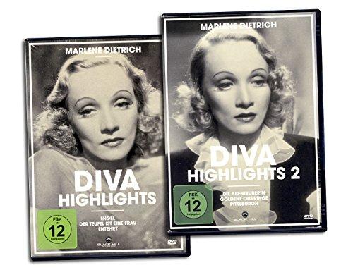 Marlene Dietrich - Diva Highlights 1 + 2, Komplettbox [6 DVDs]