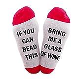 Bestes Geschenk Lustige kausale Socken Weihnachtssocken Wenn Sie Wein Socken Weihnachtsgeschenk f¨¹r Liebhaber, Freunde, Mama und Vater diese Cotton Xmas Socken lesen k?nnen