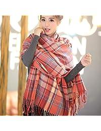 Gvdtjfk Écharpe d hiver Automne et Hiver écharpe en Tricot écharpe Chaude  écharpe Femme châle 3dfc2516b76