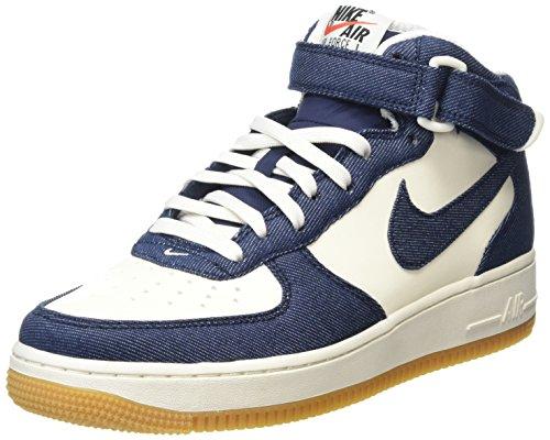Nike Uomo Air Force 1 Mid '07 scarpe sportive Azul Marino (Obsidian / Obsdn-Sl-Gm Lght Brwn)