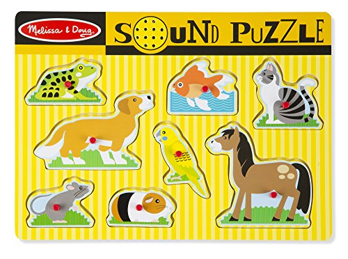 Melissa & Doug - Puzzle con tiradores, Pets Sound Puzzle (10730)