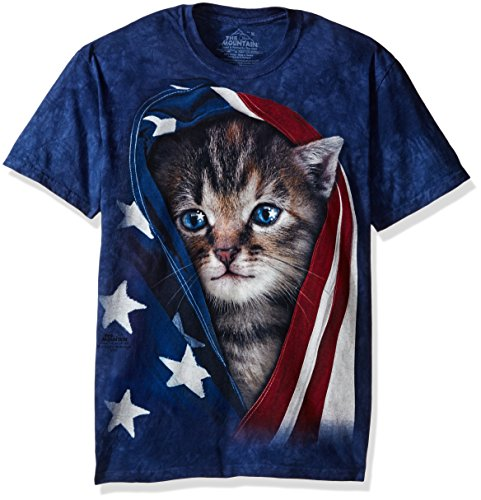 The Mountain Unisex Erwachsen Gr. M Patriotische Katze T Shirt (Patriotische Damen-t-shirts)