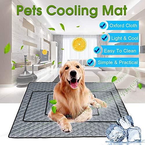 Foonee Ice Silk Kühlmatte für Hunde, selbstkühlende Matte für Hundehütte, Käfig, Bett, atmungsaktiv, extra große Decke, hält den Sommer kühl für Katzen und Hunde