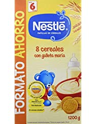 Nestlé Papillas 8 Cereales Con Galleta María A Partir De 6 Meses ...