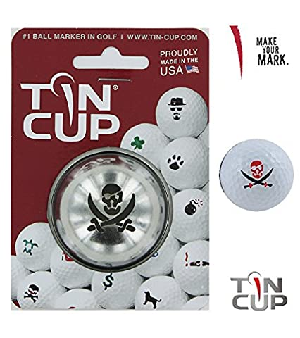 Tin Cup - Golf Ball Marker (Fire in the Hole (Pirate))