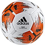 adidas Team Top Replique Fußball, White/Orange/Black/Iron Metallic, 5