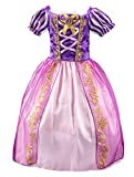 Eleasica Fille Robe de Princesse Raiponce Disney Costume pour Enfants Manches Courtes...