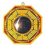 Feng Shui Chinesischer Bagua-Spiegel konvex 10,5cm Holz