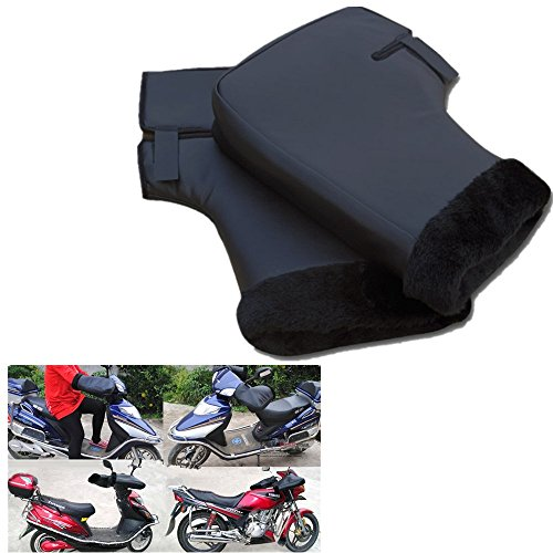 Leisuretime Guanti Moto Invernali, Guanti Impermeabili Caldi Protezione Manubrio Guanti Moto Invernali Muffole per Scooter Motociclett