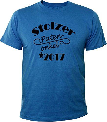 Mister Merchandise Herren Men T-Shirt Stolzer Patenonkel 2017 Tee Shirt bedruckt Royal