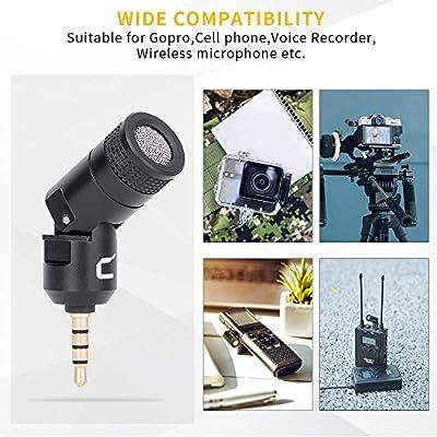 Comica CVM-VS07 Omnidirectional Mini Shotgun Video Vlog Microphone Plug and Play Mic for Gopro Hero7 Canon Nikon Sony Panasonic DSLR Cameras and Smartphone Need adapters