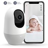 Babyphone mit Kamera, Nooie WLAN IP Überwachungskamera innen, 1080P Smart Home Haustier Kamera Bewegungserkennung Nachtsicht Zwei Wege Audio kompatibel mit Alexa, IOS/Android