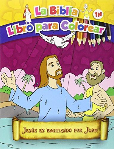 Jesús es bautizado por Juan: La Biblia. Libro para colorear por Xact Studio International
