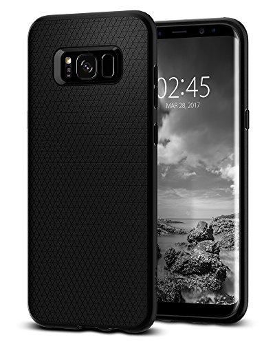 Funda Galaxy S8, Spigen® Carcasa [Liquid Air] Durable Flex y Easy Grip Design para Galaxy S8 (2017) - Negro